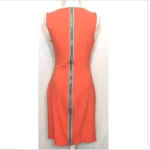 Kenneth Cole Coral Pink Back Zip Bodycon Dress